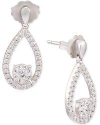 Macy's - Diamond Teardrop Drop Earrings (1/3 Ct. T.w.) In 14k White Gold - Lyst