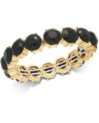 Charter Club - Gold-tone Stone Stretch Bracelet, Created For Macy's - Lyst