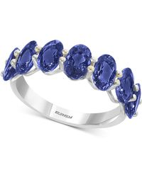 Effy Collection - Effy® Sapphire Band In (4 Ct. T.w.) In 14k White Gold - Lyst
