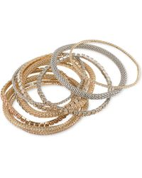 ABS By Allen Schwartz - Two-tone 10-pc. Set Crystal Stretch Bracelets - Lyst