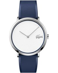 Lacoste - Moon Ultra Slim Blue Silicone Strap Watch 40mm - Lyst