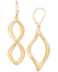 Signature Gold - Infinity Hoop Earrings In 14k Gold Over Resin - Lyst