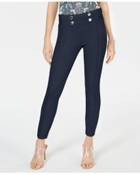 INC International Concepts - I.n.c. Curvy Tab-front Skinny Ponte Pants, Created For Macy's - Lyst