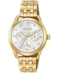 Citizen - Women's Gold-tone Stainless Steel Bracelet Watch 38mm - Lyst