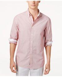 Michael Kors - Men's Striped Dobby Shirt - Lyst