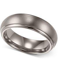 Triton - Men's Titanium Ring, Comfort Fit Wedding Band (6mm) - Lyst