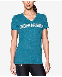 Under Armour - Threadborne Siro V-neck T-shirt - Lyst