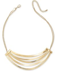 """INC International Concepts - I.n.c. Gold-tone Multi-bar Statement Necklace, 17"""" + 3"""" Extender, Created For Macy's - Lyst"""