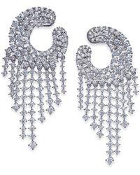 Joan Boyce - Silver-tone Crystal Chandelier Earrings - Lyst