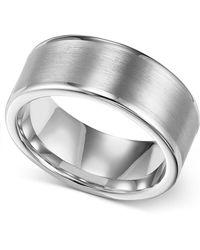 Triton - Men's Ring, 8mm White Tungsten Wedding Band - Lyst