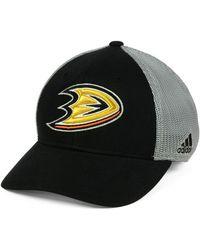 8297439a382 Lyst - Reebok Anaheim Ducks Practice Flex Cap in Black for Men