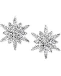 Effy Collection - Diamond Starburst Stud Earrings (1-1/3 Ct. T.w.) In 14k White Gold - Lyst