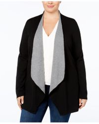 Charter Club | Plus Size Open-front Cardigan, Created For Macy's | Lyst