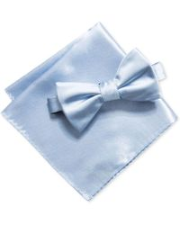Alfani - Men's Satin Solid Bow Tie & Pocket Square Set, Created For Macy's - Lyst