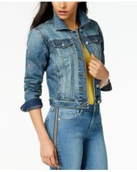 Maison Jules - Star-embroidered Denim Jacket, Created For Macy's - Lyst