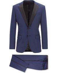 BOSS - Halven/gentry Slim Fit Wool Tuxedo - Lyst