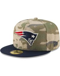 958c7bb2e69 KTZ - New England Patriots Vintage Camo 59fifty Fitted Cap - Lyst