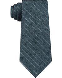 DKNY - Herringbone Stripe Slim Silk Tie - Lyst