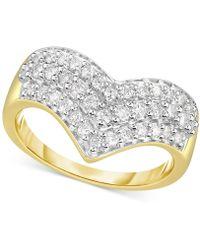 Macy's - Diamond Multi-row Chevron Ring (1/2 Ct. T.w.) In 14k Gold - Lyst