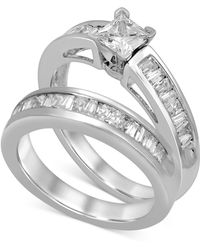 Macy's - Diamond Princess & Baguette Bridal Set (1 Ct. T.w.) In 14k White Gold - Lyst
