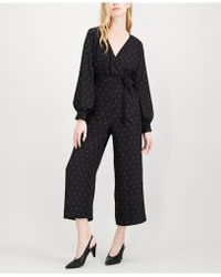 Maison Jules - Printed Wide-leg Jumpsuit, Created For Macy's - Lyst