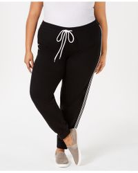 Hybrid - Plus Size Varsity-stripe Sweatpants - Lyst