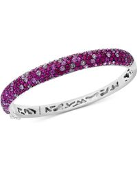 Effy Collection - Ruby (6-5/8 Ct. T.w.) & Pink Sapphire (4 Ct. T.w.) Bangle Bracelet In Sterling Silver - Lyst