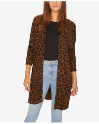 Sanctuary - Leopard-print Long Cardigan Jumper - Lyst