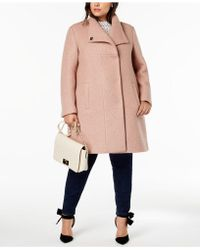 Kenneth Cole - Plus Size Textured Coat - Lyst
