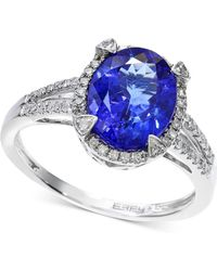 Effy Collection - Tanzanite (2-5/8 Ct. T.w.) And Diamond (1/4 Ct. T.w.) Ring In 14k White Gold - Lyst