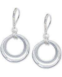Anne Klein | Earrings, Gold-tone Orbital Fish Hook Earrings | Lyst