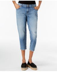 Eileen Fisher - Cropped Tapered-leg Jeans - Lyst