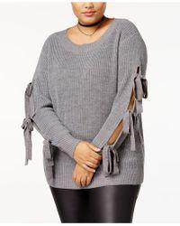 Soprano - Trendy Plus Size Tie-sleeve Jumper - Lyst