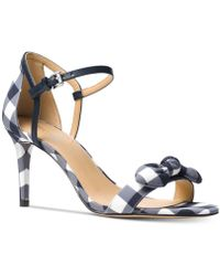 Michael Kors - Michael Pippa Gingham Dress Sandals, Created For Macy's - Lyst
