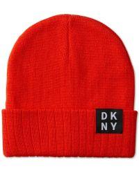 DKNY - Logo Beanie - Lyst
