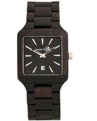 Earth Wood - Arapaho Wood Bracelet Watch W/date Brown 39mm - Lyst