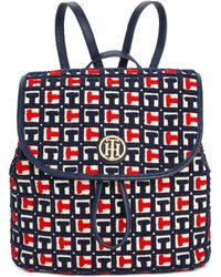 Tommy Hilfiger - Th Terry Signature Small Flap Backpack - Lyst