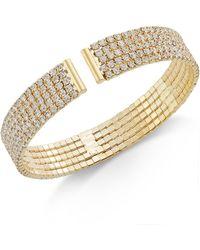 INC International Concepts - Gold-tone Crystal Flex Bracelet - Lyst
