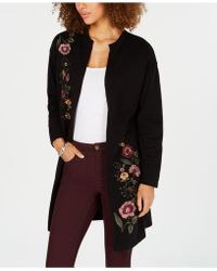 Style & Co. - Embroidered Sweater Duster Coat, Created For Macy's - Lyst