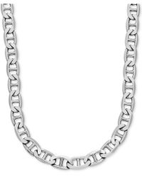"""Macy's - Mariner Link 24"""" Chain Necklace In Sterling Silver - Lyst"""