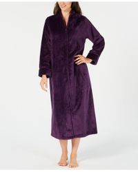 Charter Club - Dimple-textured Long Zip Robe, Created For Macy's - Lyst