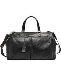 Fossil - Leather Duffel Bag - Lyst