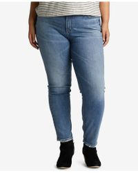 Silver Jeans Co. - Plus Size Vintage-look High-rise Tapered Jeans - Lyst