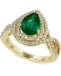 Effy Collection - Emerald (1-1/6 Ct. T.w.) And Diamond (3/8 Ct. T.w.) Ring In 14k Gold - Lyst