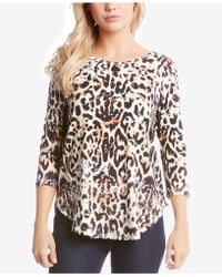 Karen Kane - Printed Shirttail Top - Lyst