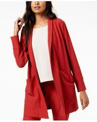 Eileen Fisher - Washable Crepe Kimono Jacket, Regular & Petite - Lyst