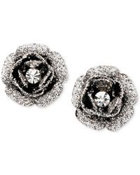 Betsey Johnson - Rose Bud Stud Earrings - Lyst