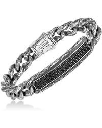 Scott Kay - Men's Black Sapphire Link Bracelet (3-1/4 Ct. T.w.) In Sterling Silver - Lyst
