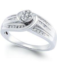 Macy's - Diamond Swirl Promise Ring (1/4 Ct. T.w.) In Sterling Silver - Lyst
