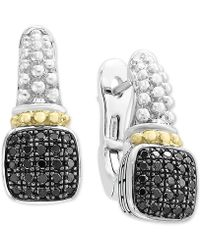 Effy Collection - Balissima By Effy® Diamond Cluster Beaded Drop Earrings (1/3 Ct. T.w.) In Sterling Silver & 18k Gold - Lyst